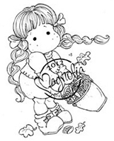 Magnolia - Cling Mounted Rubber Stamp - Tilda with Corn
