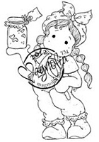 Magnolia - Cling Mounted Rubber Stamp - Tilda With Lovely Jam