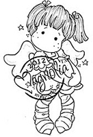 Magnolia - Cling Mounted Rubber Stamp - Dancing with Stars Tilda