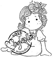 Magnolia - Cling Mounted Rubber Stamp - Tilda with a Cute Lamb