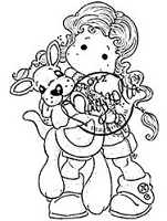 Magnolia - Cling Mounted Rubber Stamp - Kangaroo Tilda
