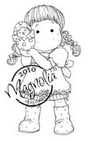 Magnolia - Cling Mounted Rubber Stamp -  Tilda with Newly Hatch Chicken