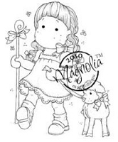 Magnolia - Cling Mounted Rubber Stamp  - Tilda as Shepherd