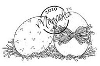 Magnolia - Cling Mounted Rubber Stamp  - Two Eggs