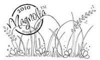 Magnolia - Cling Mounted Rubber Stamp  - Three Eggs