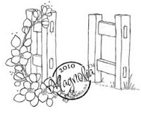 Magnolia - Cling Mounted Rubber Stamp - Open Gate