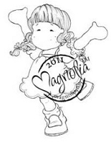 Magnolia - Cling Mounted Rubber Stamp  - Happy Spring Tilda