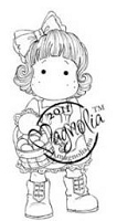 Magnolia - Cling Mounted Rubber Stamp  - Tilda with Egg Basket