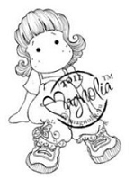 Magnolia - Cling Mounted Rubber Stamp - Tilda with Butterfly Jeans