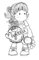 Magnolia - Cling Mounted Rubber Stamp  - Tilda with Straw Hat