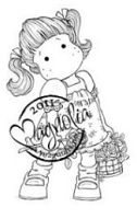 Magnolia - Cling Mounted Rubber Stamp - Tilda With Butterfly Dress