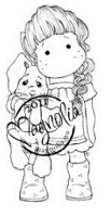 Magnolia - Cling Mounted Rubber Stamp  - Tilda with Hanging Rabbit