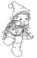 Magnolia - Cling Mounted Rubber Stamp - Tilda on the Roof