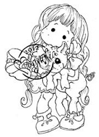 Magnolia - Cling Mounted Rubber Stamp - Tilda with Pigling
