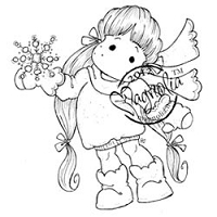 Magnolia - Cling Mounted Rubber Stamp - Snowy Tilda