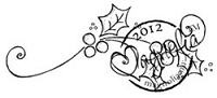 Magnolia - Cling Mounted Rubber Stamp - Holy Swirl