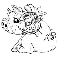 Magnolia - Cling Mounted Rubber Stamp - Sweet Piglet