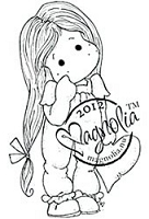 Magnolia - Cling Mounted Rubber Stamp - Lonely Tilda with her Heart