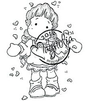 Magnolia - Cling Mounted Rubber Stamp - Love Is In The Air Tilda
