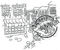 Magnolia - Cling Mounted Rubber Stamp - Venice