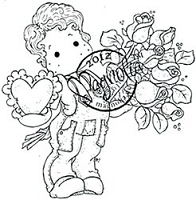 Magnolia - Cling Mounted Rubber Stamp - Charming Edwin