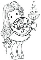 Magnolia - Cling Mounted Rubber Stamp - Tilda with Love Potion
