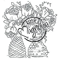 Magnolia - Cling Mounted Rubber Stamp - Bouquets with Love