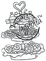 Magnolia - Cling Mounted Rubber Stamp - Baked with Love