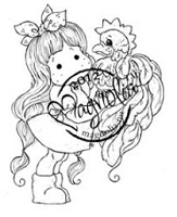 Magnolia - Cling Mounted Rubber Stamp  - Tilda with Mr Rooster