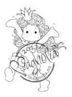 Magnolia - Cling Mounted Rubber Stamp - Happy Princess Tilda