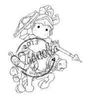 Magnolia - Cling Mounted Rubber Stamp - Black Knight Edwin
