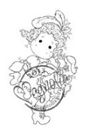 Magnolia - Cling Mounted Rubber Stamp - Moulin Rouge Tilda