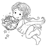 Magnolia - Cling Mounted Rubber Stamp - Tilda Captures Stars