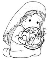 Magnolia - Cling Mounted Rubber Stamp - Loving Holy Tilda