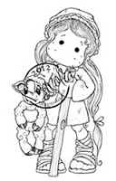 Magnolia - Cling Mounted Rubber Stamp - Holy Tilda With Lamb