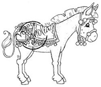 Magnolia - Cling Mounted Rubber Stamp - Ella The Donkey