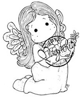 Magnolia - Cling Mounted Rubber Stamp - Tilda With A Little Dove