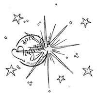 Magnolia - Cling Mounted Rubber Stamp - Nativity Star
