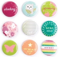 Making Memories - Just Chillin' Collection - Girl Badge Brads