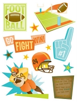 Making Memories - Dimensional Stickers - Design Shop - Football
