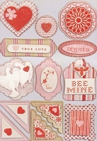 Making Memories - Love Notes Collection - Dimensional Stickers
