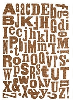 Making Memories - Shimmer Jigsaw Letters - Mixed Brown