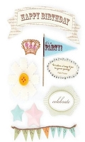 Making Memories - Design Shop Collection - 3 Dimensional Stickers - Birthday