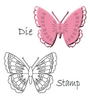 Marianne Design - Collectables Die & Stamp Set - Butterfly 1