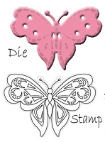 Marianne Design - Collectables Die & Stamp Set - Butterfly 2