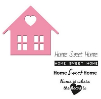 Marianne Collectables Die & Stamp Set- Home Sweet Home