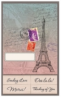 Hero Arts - Wood Mounted Rubber Stamp Card Kit - Eiffel Tower Cards with Messages