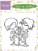 Marianne Design - Clear Stamps - Don & Daisy - Sharing Ice cream Soda