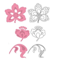 Marianne - Collectables Die and Clear Stamp Set - Flower & Leaf 1