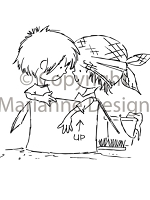 Marianne Design - Clear Stamp - Don & Daisy - Moving